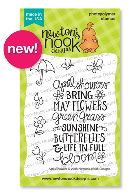 April Showers Stamp Set by Newton's Nook Designs #newtonsnook #handmade