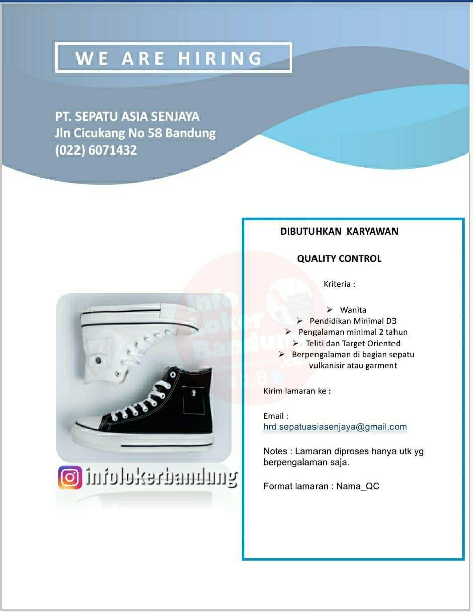 Lowongan Kerja Quality Control PT. Sepatu Asia Senjaya Bandung April 2021