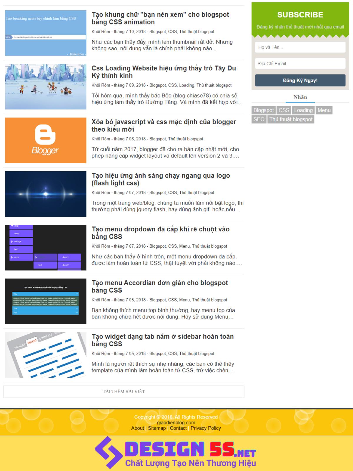 Super Fast Load Bloggger Template v2.0, Tải Nhanh - Ảnh 2