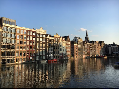 canal Amstel Amsterdam voyage