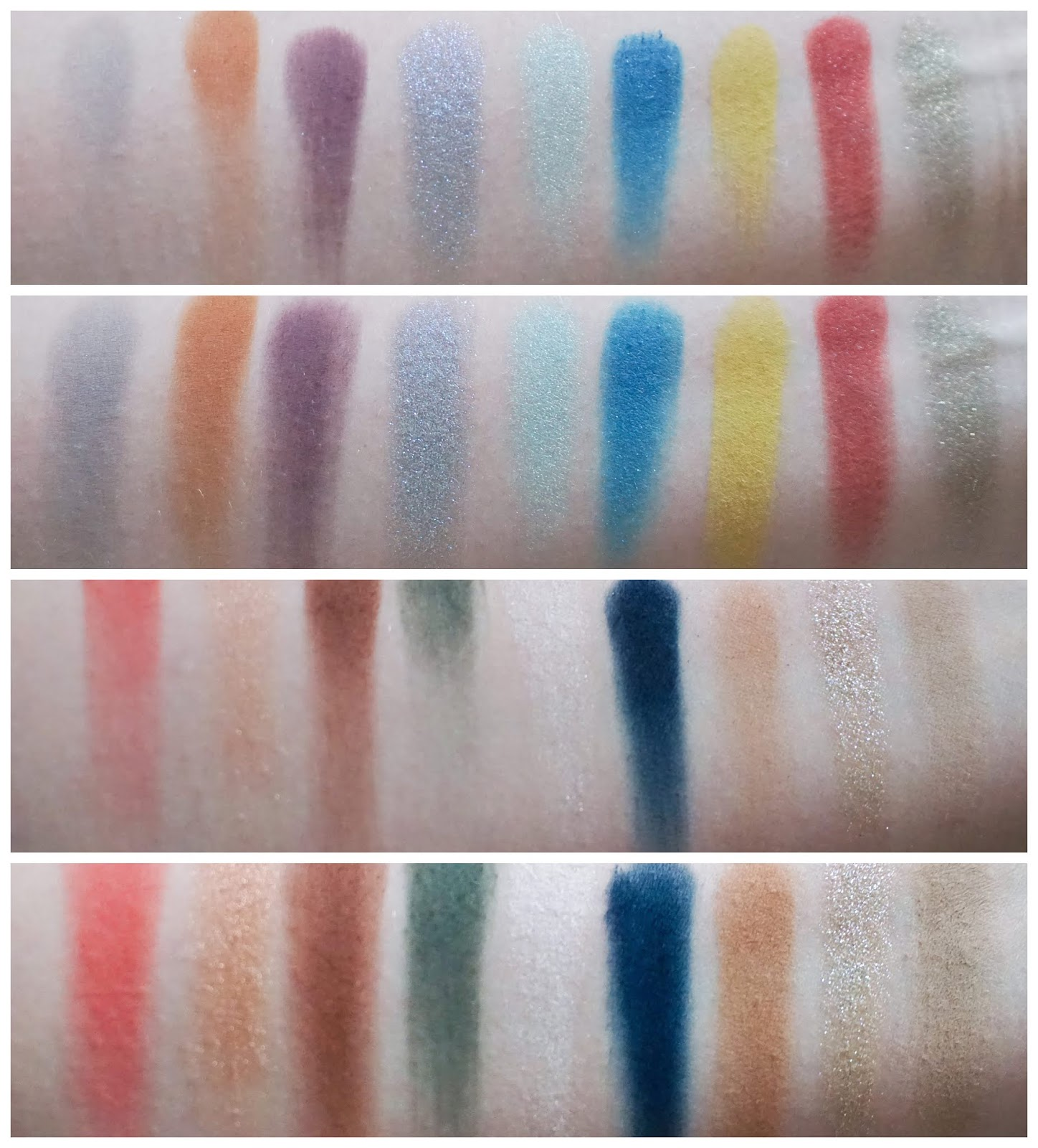 Review Hatice Schmidt Labs - Holy & Day Palette Swatches