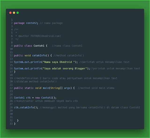 Contoh Method Java