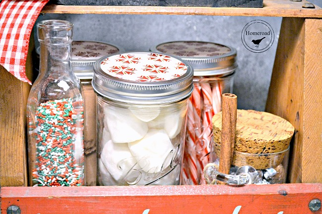 Mason jar treats for a DIY Hot cocoa tote