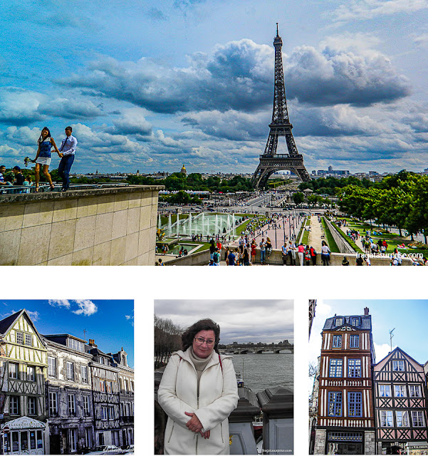 Viajar sozinha para Paris e Rouen, França