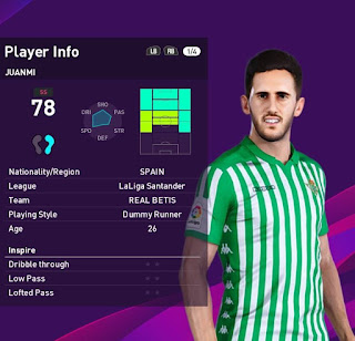PES 2020 Faces Juanmi by SR