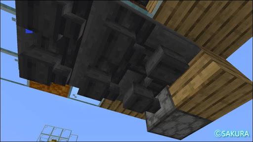 Minecraft 自動小麦畑兼取引所の作物を回収するホッパー