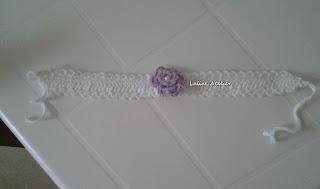 faixa crochê, faixa bebê