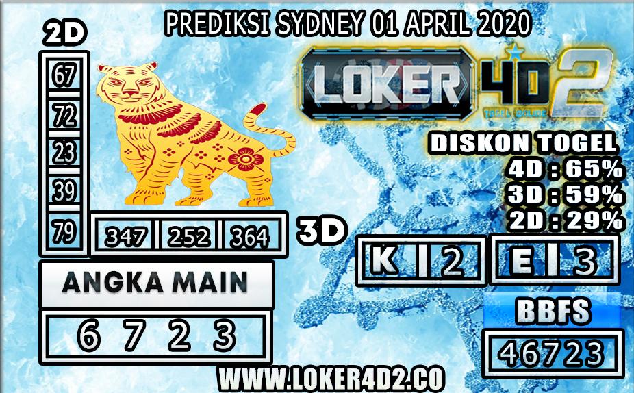 PREDIKSI TOGEL SYDNEY LOKER4D2 01 APRIL 2020