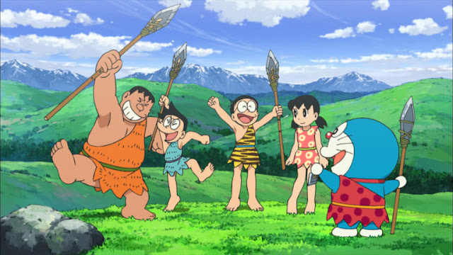 Doraemon, Nobita And Friends Tribal Look HD Wallpapers