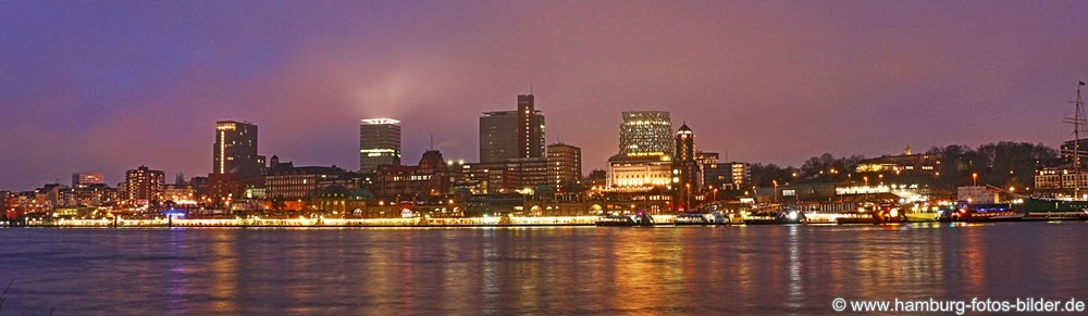 Hamburg Skyline Nacht