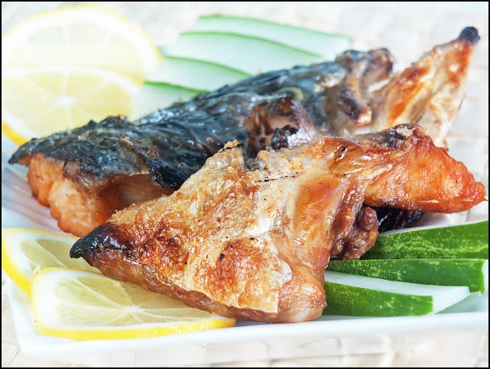 Kitchentigress salt grilled salmon head for Salt fish head