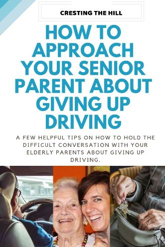 As our parents get older we find ourselves in the tricky position of having to broach difficult topics with them - one of these is giving up driving - here's a few helpful tips on how to have that conversation. #elderly #driving
