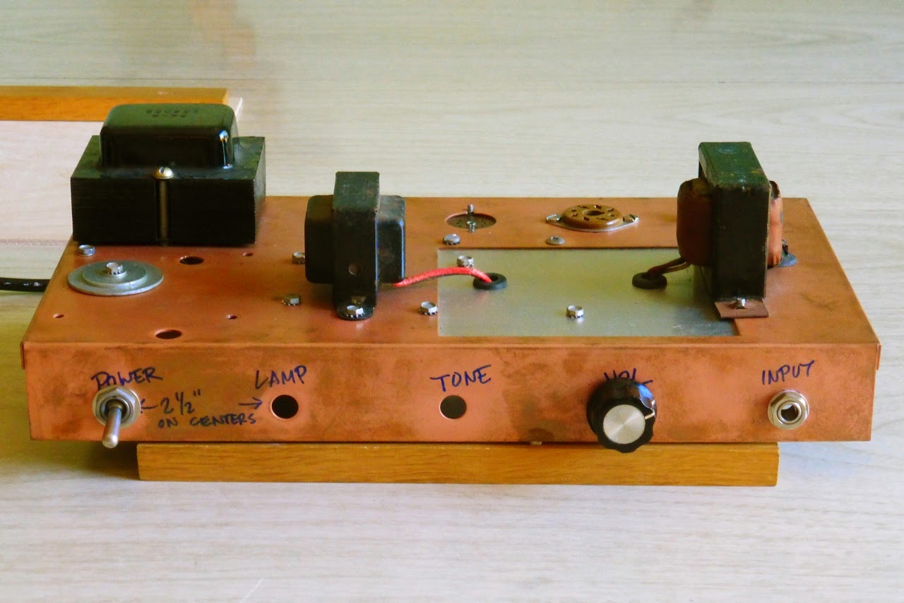 home made guitar amp, project, tube, tubes, 6V6, 12AX7