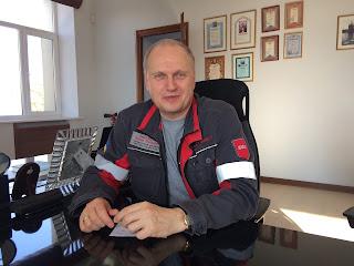 Enver Tkitischwili, Direktor von «Asowstal». Fot. Paul Flückiger. Ukraine