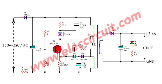 Circuit Schematic Cheap 6V Battery Charger from a Mobile Charger based on Transistor