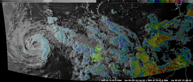 Imagen satelital GOES-16