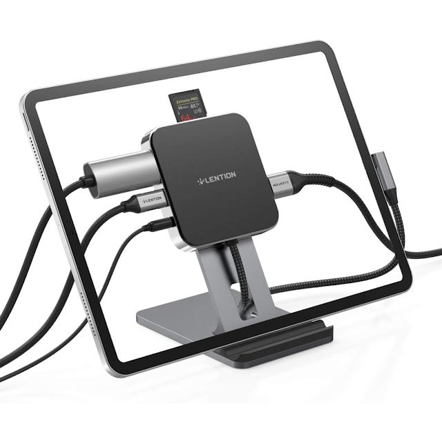LENTION USB C Standing Dock for 2018-20 iPad
