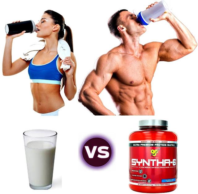 Batido proteínas vs leche masa muscular