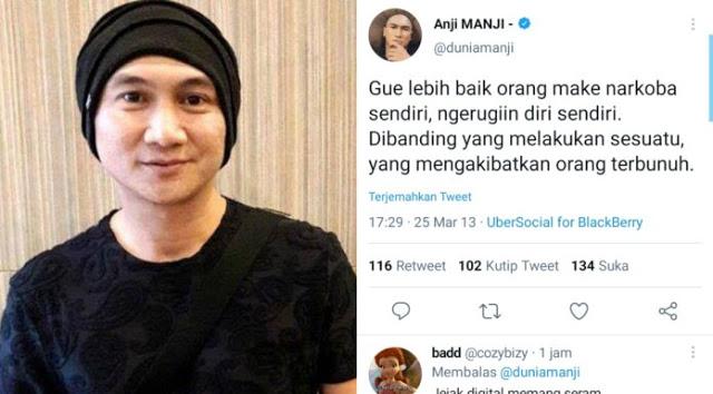 Anji Diduga Hisap Ganja, Cuitan Lamanya Disorot Netizen: Gue Mending Make Narkoba