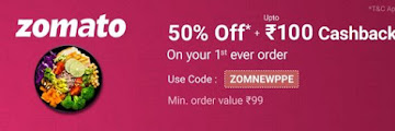 PhonePe Zomato Offer - Get 50% Off + Upto Rs 100 Cashback On Food Order