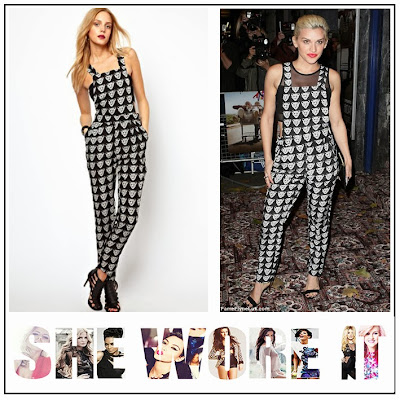 Ashley Roberts, Lavish Alice, Black, White, Monochrome, Tiger Face Print, Dungaree, Jumpsuit, Cut Out Detail,