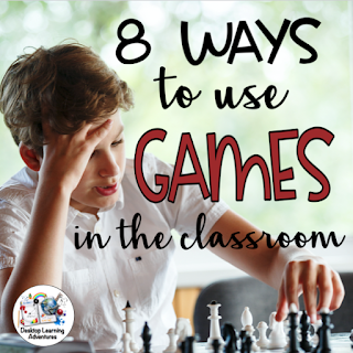 Games build community in the classroom.