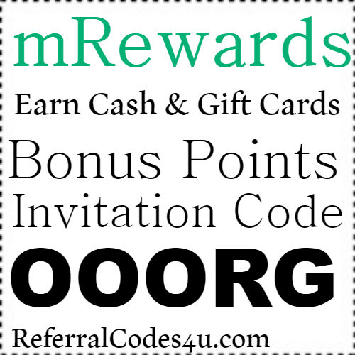 mRewards App Referral Code, Invite Code, Sign Up Bonus and Reviews 2018-2019