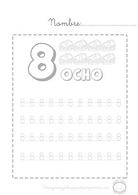Caligrafia de numeros para imprimir