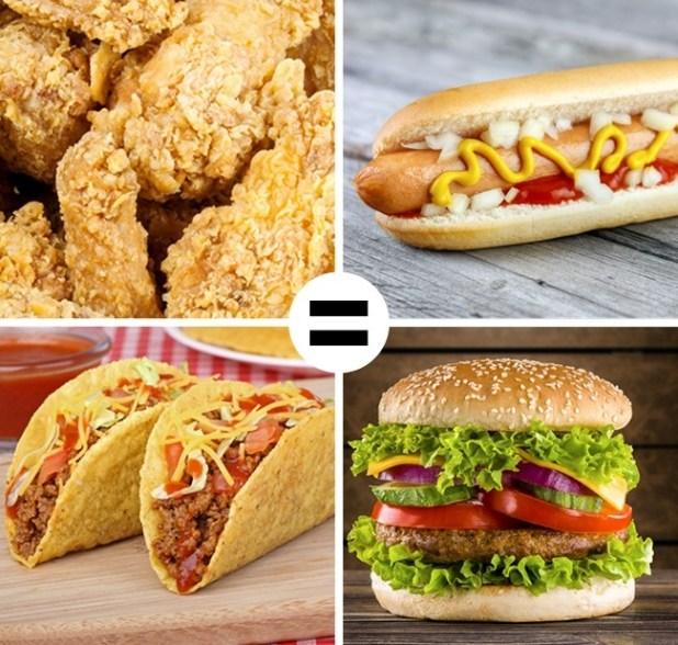 أشهر الأكلات السريعة في المنزل مثل المطاعم