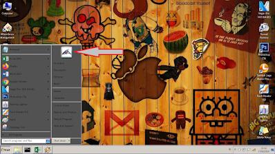 Seperti biasa, utamanya klik Start, dan lihat gambar bagian yang pojok kanan atas, disitu di klik or tap saja.