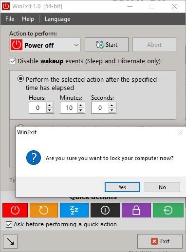كيفية إغلاق او إعادة تشغيل او قفل الكمبيوتر تلقائياً في اوقات محددة WinExit
