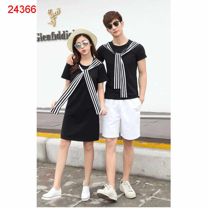 Jual Dress Couple Dress Syal - 24366