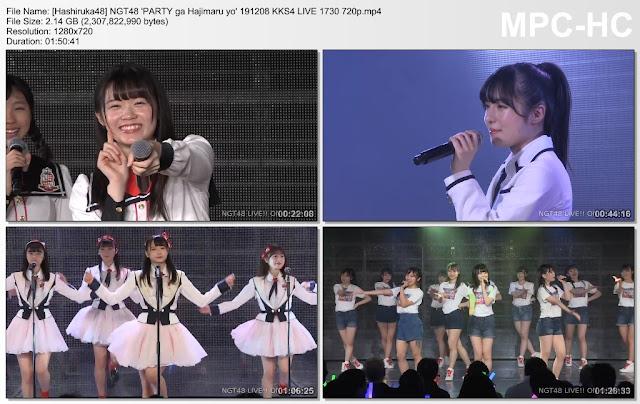 NGT48 'PARTY ga Hajimaru yo' 191208 KKS4 LIVE 1730