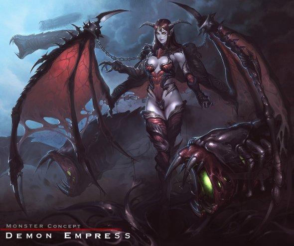 Park Han reaper78 deviantart ilustrações fantasia games mulheres