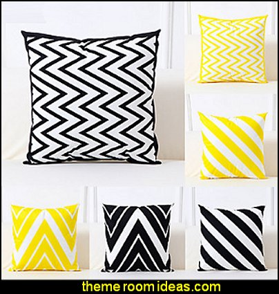 Pillow Cover, Art Deco Geometric Pattern Simple Classic Square Traditional Classic Throw Pillow
