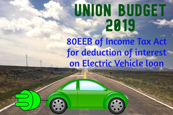 80EEB of Income Tax Act for deduction of interest on Electric Vehicle loan
