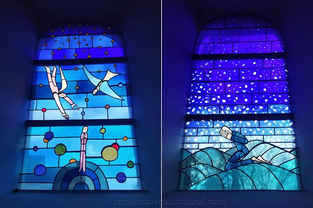 Saint-Etienne Church Waha Jean-Michel Folon Stained Glass windows