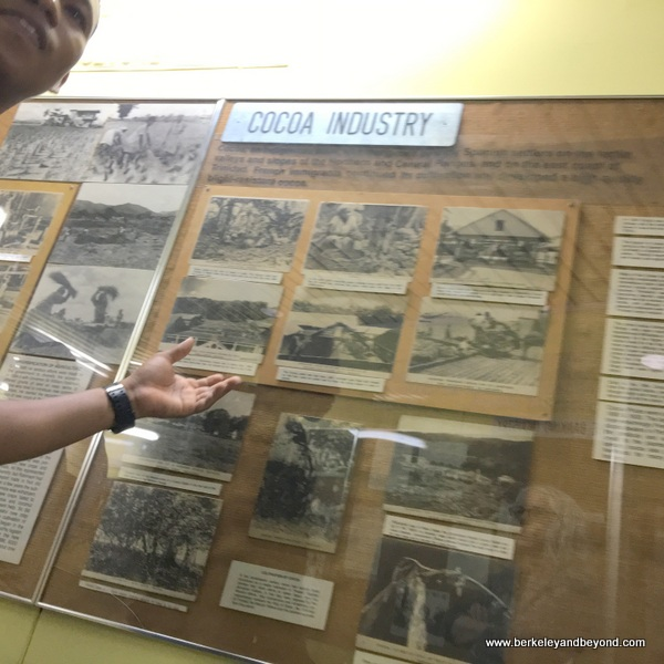 cocoa industry display at The National Museum & Art Gallery of Trinidad & Tobago in Port of Spain, Trinidad