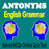 English Antonyms MCQs With Solved Answers
