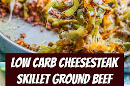 Low Carb Cheesesteak Skillet using Ground Beef #lowcarb #cheesesteak #groundbeef #dinner #keto