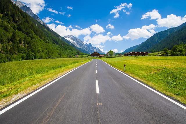 Strada verso il Lago di Anterselva