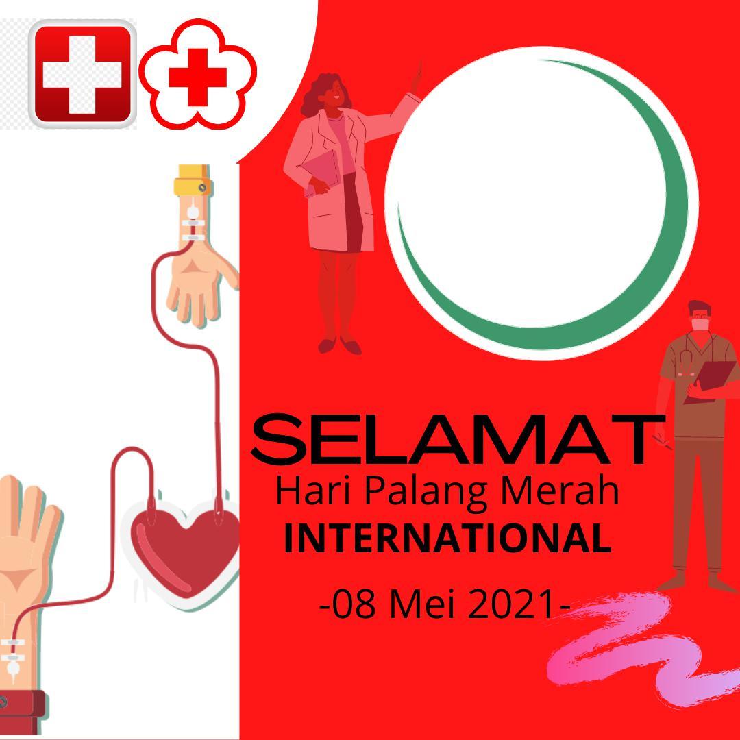Bingkai Twibbon Selamat Hari Palang Merah Internasional 8 Mei 2021