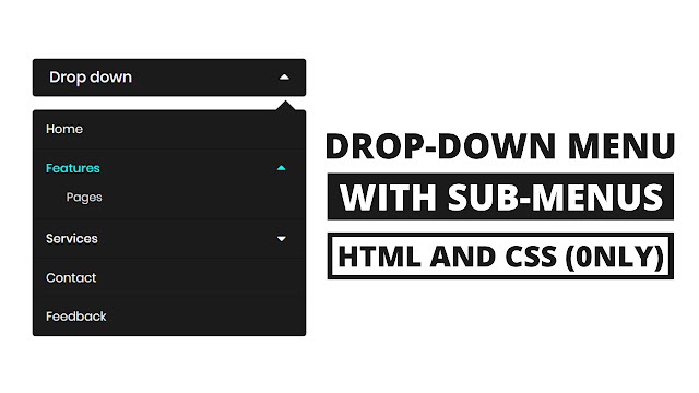 Minimal Drop-down Menu Bar with Submenu using HTML & CSS