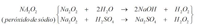 reaçao peroxido sodio formando base sulfato hidrogenio