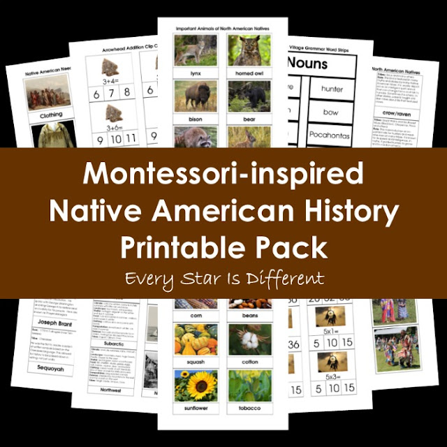 Montessori-inspired Native American History Printable Pack