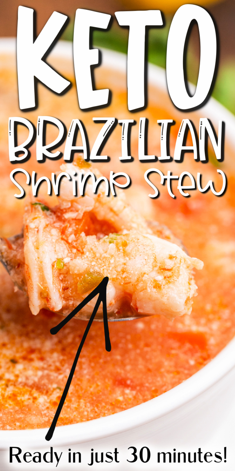 Keto Brazilian Shrimp Stew - This Keto Brazilian Shrimp Stew recipe is my low carb version of the classic Moqueca de Camaroes. It is so incredibly delicious with a creamy coconut and tomato base, plump juicy shrimp, jalapeno, all brightened up with fresh lemon juice. It is easy to make but perfect for any occasion from a fancy get together with friends to a quiet dinner at home with family! #keto #lowcarb #glutenfree #dairyfree #shrimp #seafood #stew #soup #brazilian #easy #quick #recipe