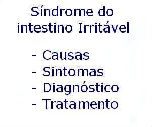 Síndrome do intestino Irritável causas sintomas diagnóstico tratamento prevenção riscos complicações