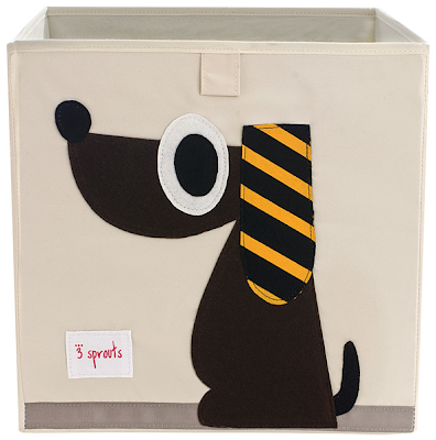 storage bin with picture of a dog