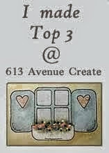 I made top 3  at 613 avenue create challenge nº 103