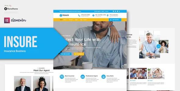 Best Insurance Business Elementor Template Kit